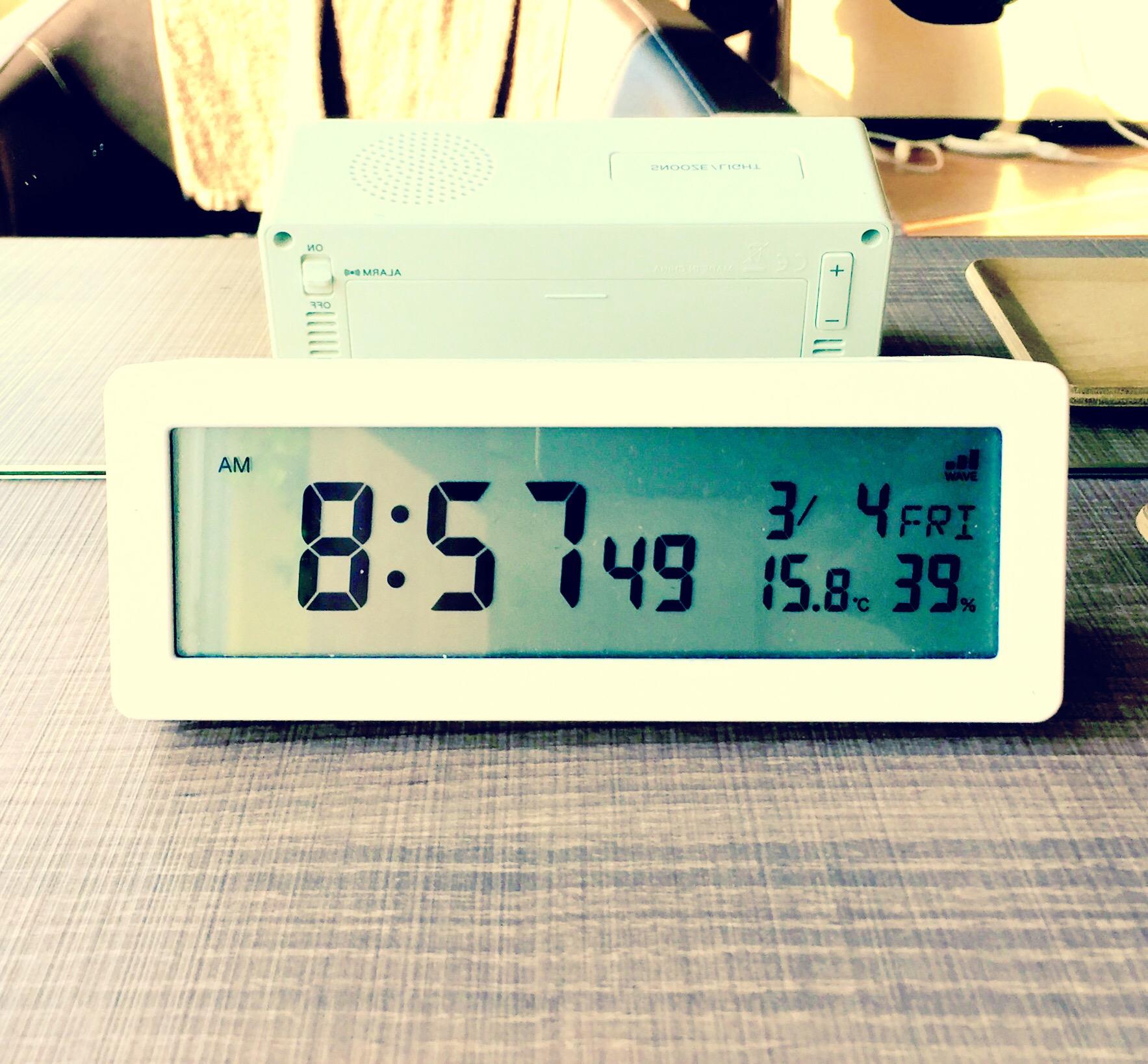 今朝は15.8度